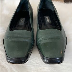 Bally Shoes - EUC Bally Forest Green Flat pump.